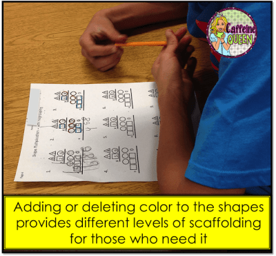 Visual method for teaching multiplication using colors and shapes!