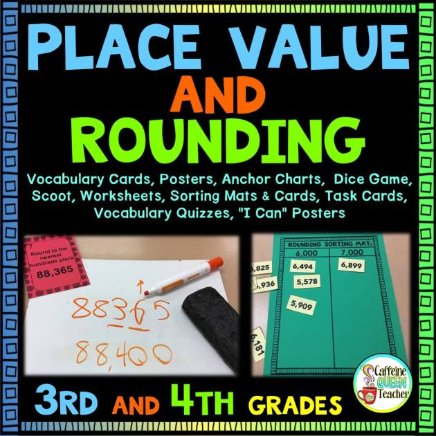 Huge Place Value and Rounding Kit for 3rd and 4th graders