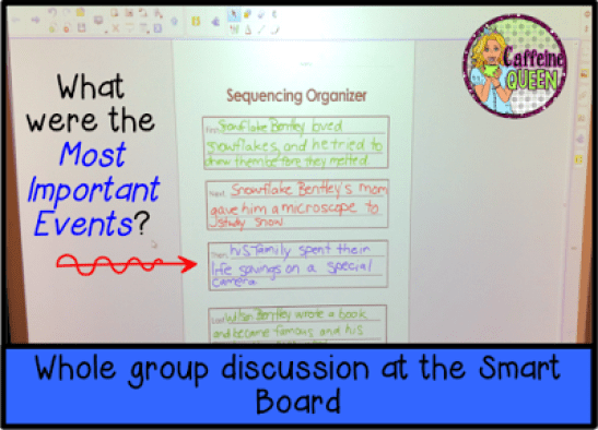 sequencing important events leads to the main idea
