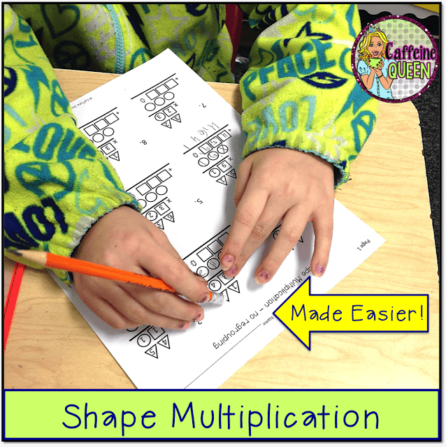shapes and colors help students solve 2-digit x 2-digit multiplication problems