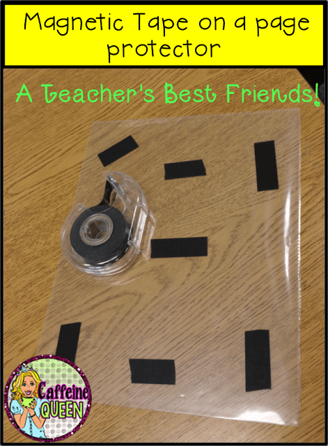Magnetic tape is a must-have for teachers