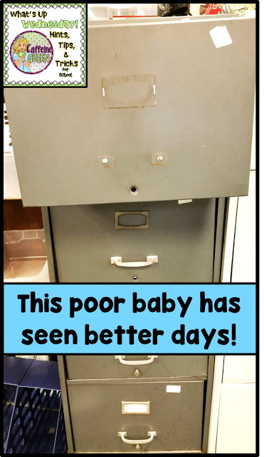 Contact paper revitalizes an old filing cabinet