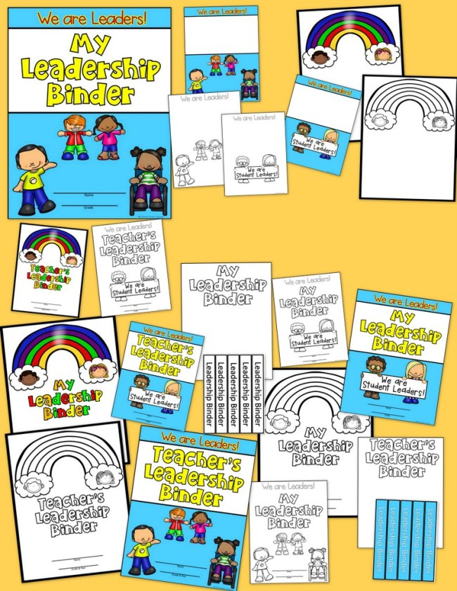 Student and Teacher Leadership Binders