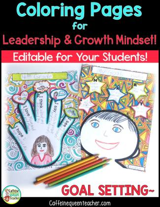 student leaders coloring pages for growth mindset