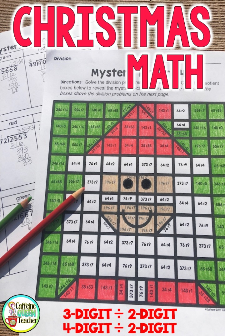 Long division is so much fun with mystery coloring pages