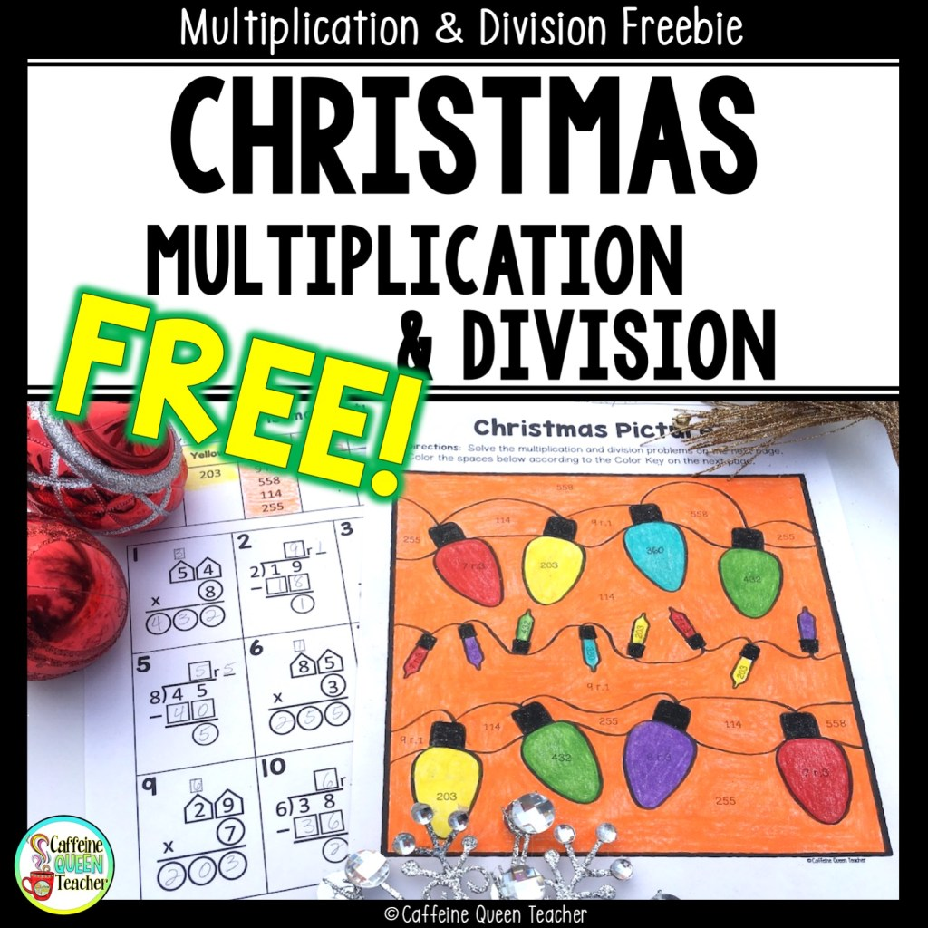 Christmas Multiplication & Division FREEBIE for teachers