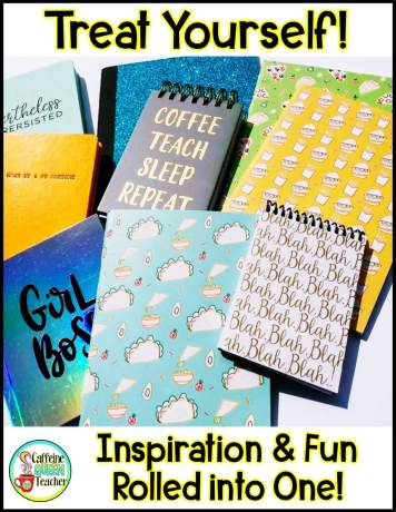 Inspiring notebooks and teacher supplies make you feel like an organized teacher