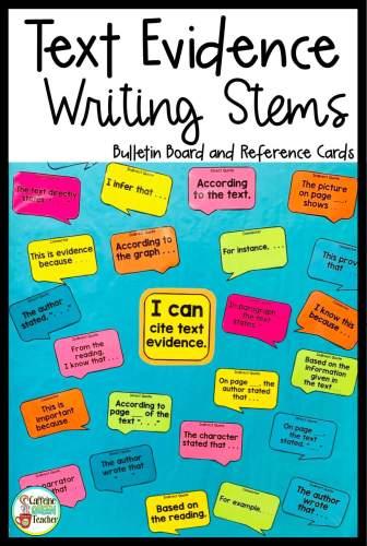 sentence stems poster set