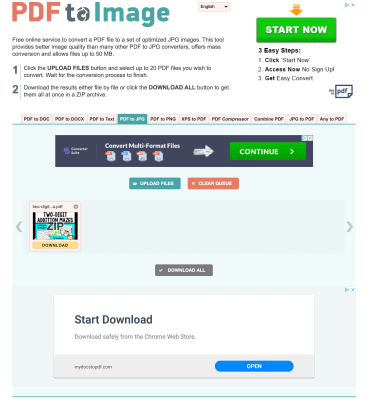 try using pdftoimage.com to change a pdf into images