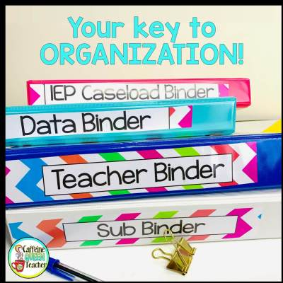 Use a teacher binder system to get organized