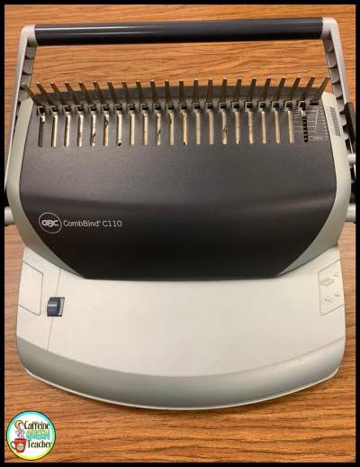 binding machine I used