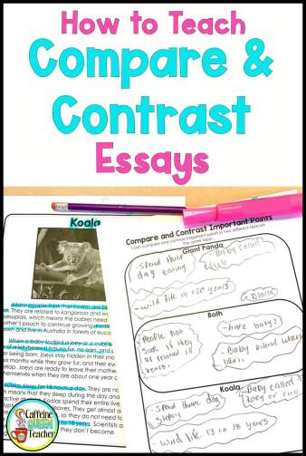 Using paired passages to teach compare and contrast essay writing
