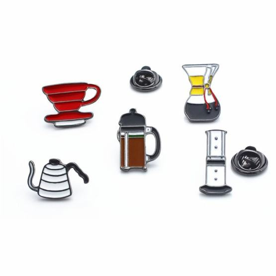 Barista Coffee Brooch - French Press Accessories Kettle Creative Gifts
