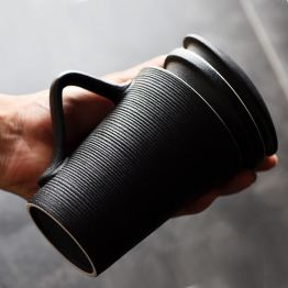 Large Capacity Mug With Lid Ceramic Filter Cup and Cover