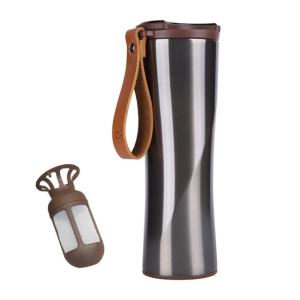 Travel Mug Coffee Tumbler Vacuum Bottle Touch Temperature Display Gray