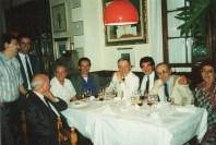 1987 Ristorante il Cigno (Mantova): da sinistra Franco Malinverno, fratelli Botte (rist. La Capra), Beppino Cantarelli, Valentino Migliorini (rocche dei Manzoni), i coniugi Ramelli (rist. Colombo)