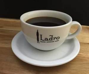 Making Great Coffee is simple and the result is a cup of black coffee in a Ladro ceramic cup