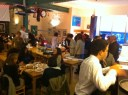 Over 100 people enjoy some great Italian cooking