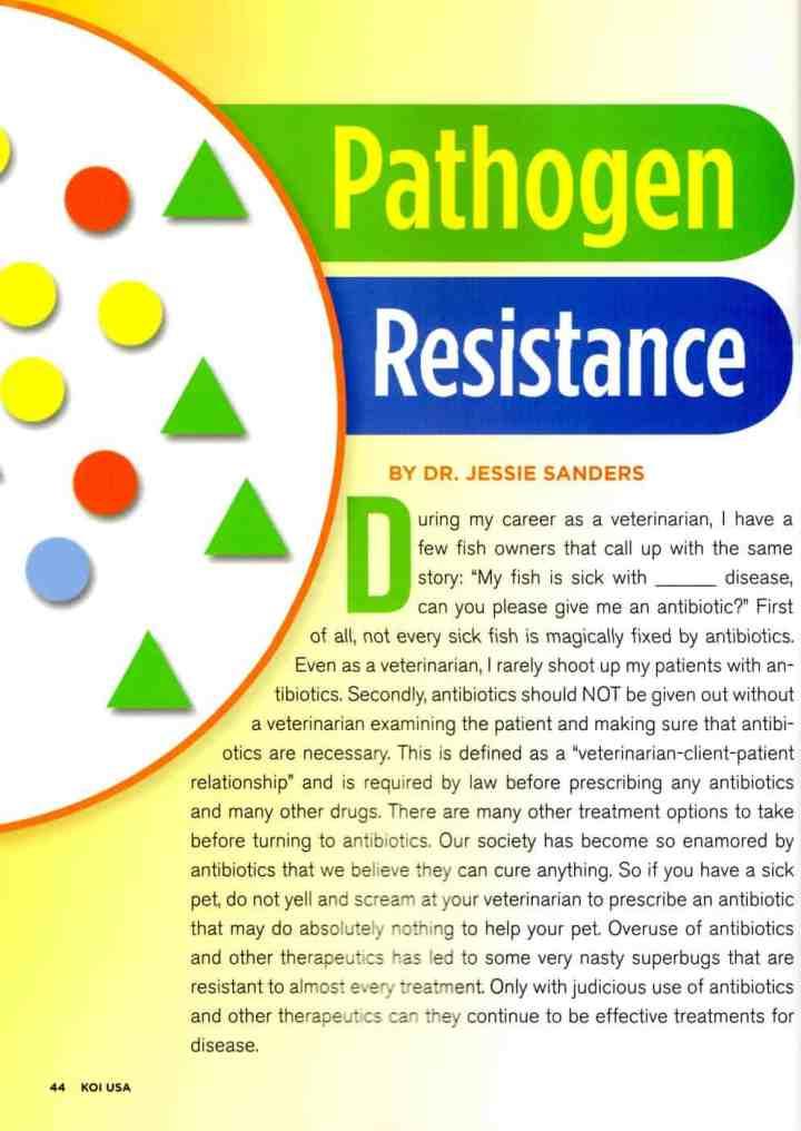 New KOI USA Article: Pathogen Resistance