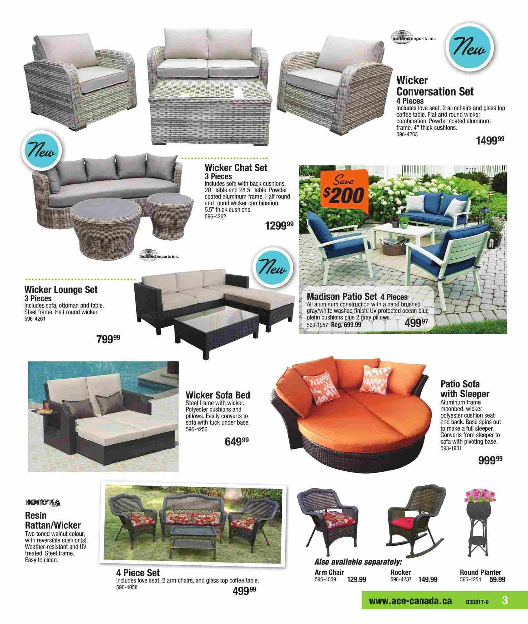 Ace Hardware Canada Outdoor Living Flyer (ON) May 1 - 27 2017 on Ace Outdoor Living id=83066