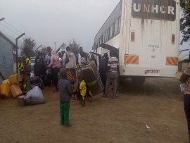 CAFOMI, UNHCR AND MTI OFFICIALS SETTLE 34 POCS TO KYAKA II FROM KANARA RECEPTION CENTRE