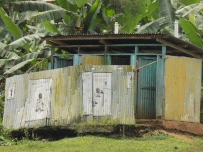 Conditions of most latrines in the area due to flooding