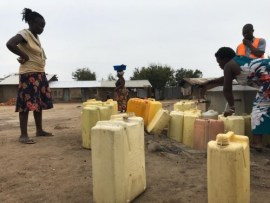 Kanara sub county residents accessing safe and quality water.