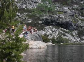 Everyone is waiting at the lake!