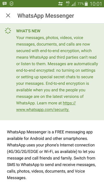 Whats New on WhatsApp