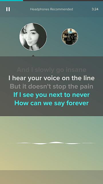 Mulai bernyanyi di Smule sesuai bagian anda
