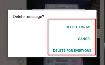 Delete Feature inWhatsApp