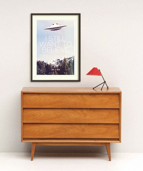 Xfiles image - Etsy shop I Love Poster
