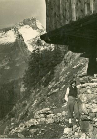 Alla capanna del Cervino 1937