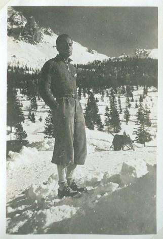 Emilio Comici in Monte Piana, January 1936