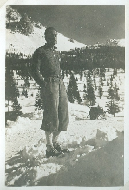 Emilio Comici in Monte Piana, January 1936