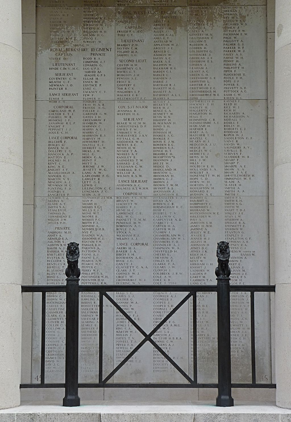 """So great were the casualties that not all the names of """"the missing"""" are listed."""