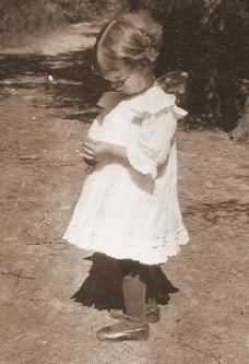 Antonia Pozzi as a child