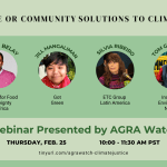 THURS 2/25 Webinar: Billionaire or Community Solutions to Climate Chaos?