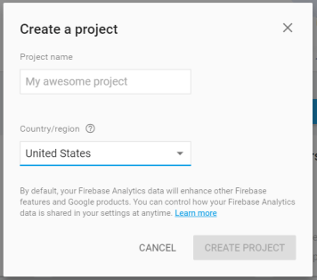 firebase-create-new-project