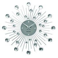 Wanduhr BALL mit Kristallkugeln 30cm