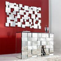 XL Wandspiegel MULTIPLEX mit Facettenschliff & 55 Spiegelflächen 140cm x 85cm