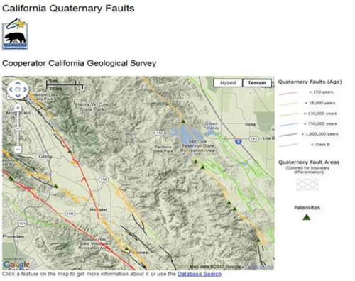 San Luis seismic sources