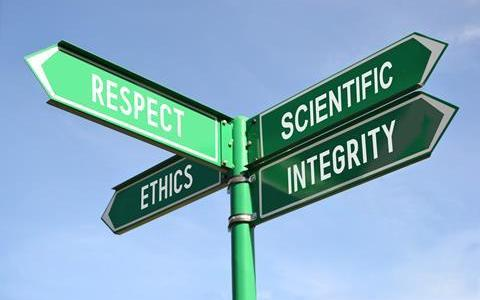 Signs saying respect ethics scientific integrity
