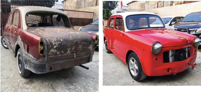 Restorasi FIAT saya di bengkel cat profesioanl seperti cahabat, saya PUAS sekali dengan hasil nya!