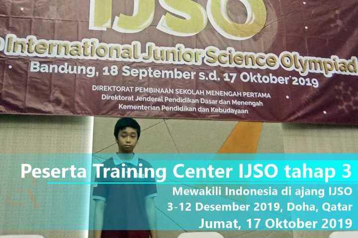 Lolos Training center IJSO ke tahap 3