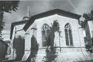 Cahiers de la Haute-Loire. Année 2011. Eglise d'Allègre. Le chevet, seule partie ancienne.