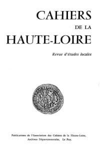 Couverture des Cahiers de la Haute-Loire