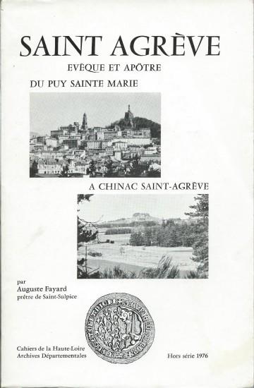 Cahiers de la Haute-Loire. Année 1976. Couverture de Saint Agrève.