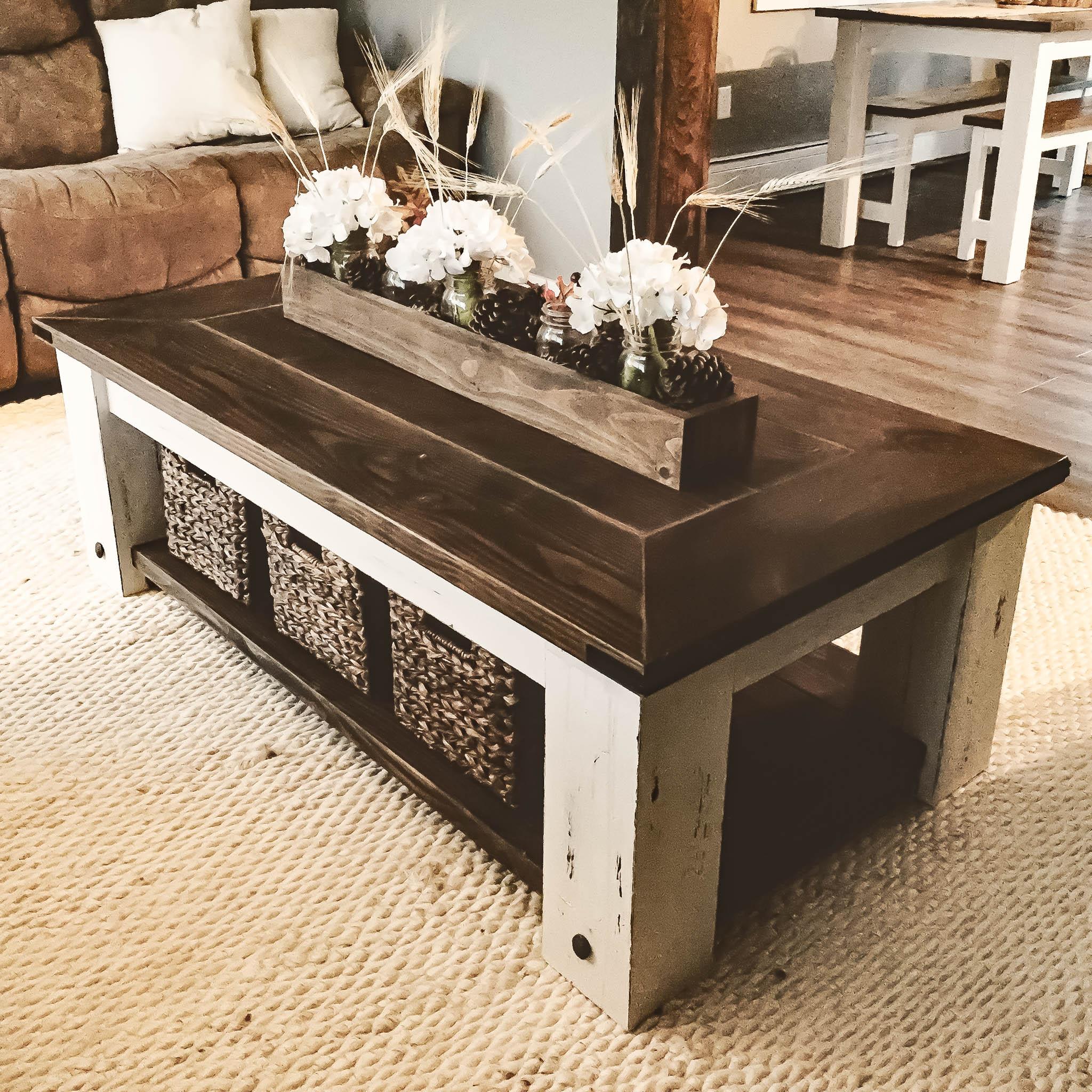 Chunky Farmhouse Coffee Table Cahill S Creative Llc Diy Blog