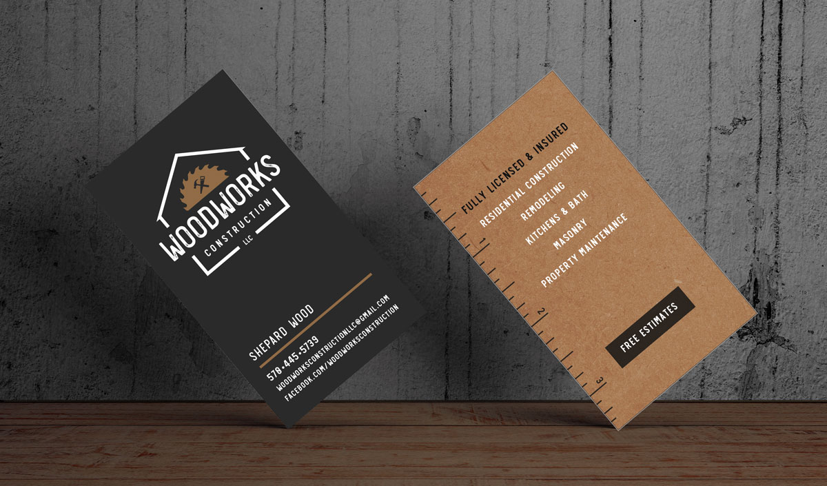 Woodworks Construction LLC Business Cards